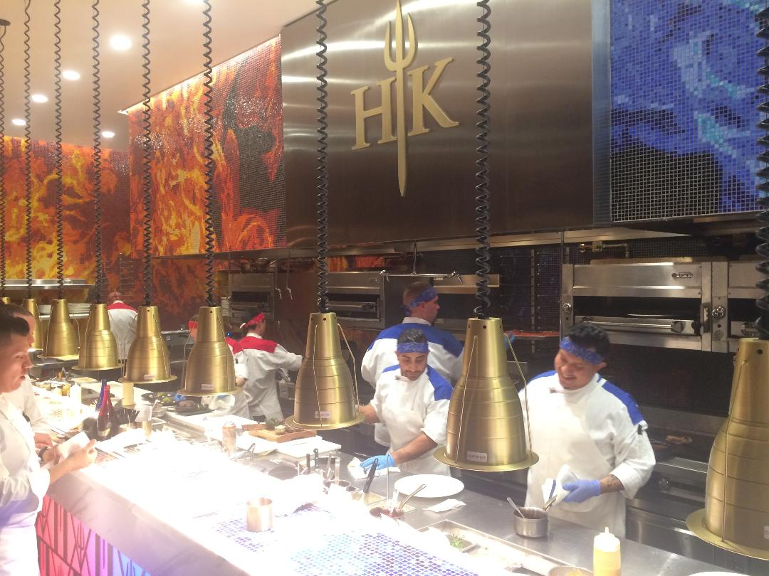 gordon ramsay hells kitchen restaurant at caesars palace in las vegas entertainment and sports today - Hells Kitchen Vegas